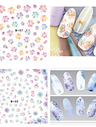 1pcs Fresh Nail Watermark Sticker 46-50