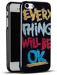 todo va a estar bien funda protectora suave de la contraportada del iphone para el iphone se / iPhone 5s / 5