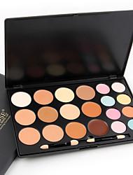 New 20Colors Salon Contour Face Cream Makeup Concealer Palette+Blush