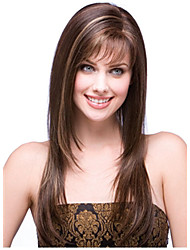 Capless High Quality Pretty Long Straight Brown Hair Wig