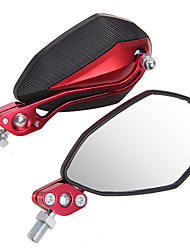1 Pair Mirror 10Mm 8Mm For Universal Motorcycle Motorbike Black + Red