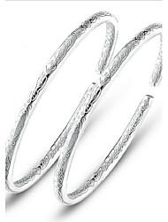 s925 pura stering prata pulseira aberta pulseira jóias