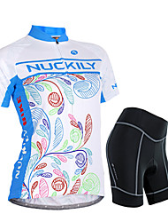 NUCKILY® Cycling Jersey with Shorts Women's Short SleeveWaterproof / Breathable / Rain-Proof / Anti-Eradiation /