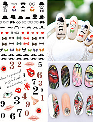 1pcs Fresh Nail Watermark Sticker 62-66
