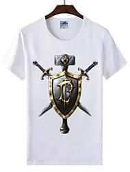 flaming monde light® of warcraft wow courir t-shirt en coton lycra cosplay humains