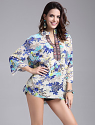 Women's Plus Size Floral Print Blouse