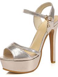 Women's Shoes Stiletto Heels/Platform/Slingback/Open Toe Sandals Party & Evening/Dress Black/Silver/Gold