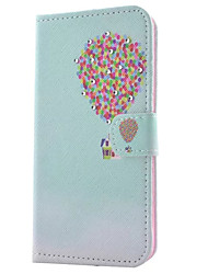 For Samsung Galaxy S7 Edge Wallet / Card Holder / with Stand / Flip Case Full Body Case Balloon PU Leather SamsungS7 edge / S7 / S6 edge