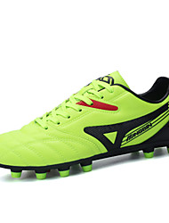 Men's Soccer Shoes Leather Blue / Green / White