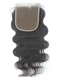 """5*5 Middle Part Body Wave Lace Closure Hair Virgin Remy Human Hair Top Closure 1B 10""""-20"""""""