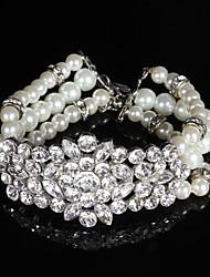 Women's Chain Bracelet Imitation Pearl Imitation Pearl / Rhinestone