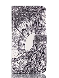 Life tree Pattern PU Leather Case with Card Slot and Stand for iPhone 7 7plus 6s 6 Plus SE 5s 5