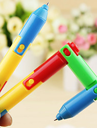 1PC Creative Ball-Point Pen Lovely Folding Pen Ballpoint Pen Students Prizes(Style random)