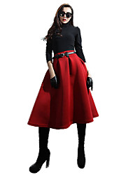 verragee  Bust skirt of tall waist  The air layer fabric  The a-line skirt long skirts