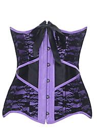 Serre Taille Vêtement de nuit Femme Jacquard Nylon / Polyester / Spandex Beige / Violet Aux femmes