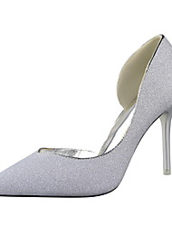 Women's Shoes Wedding/Party & Evening/Dress Fashion Stiletto Heel Gold dust Leather Shoes Multicolor