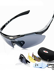 Cycling Glasses 3 Lens Windproof Anti-fog With Mypia Frame Sport Sunglasses MTB Bike Bicycle Polarized Cycling Glasses
