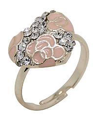 European And American Retro Diamond Ring Opening Zircon Drip LoveImitation Diamond Birthstone