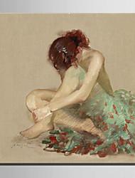 mini-pintura a óleo tamanho e-casa moderna puro mão ballet menina chamar a pintura decorativa frameless