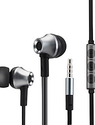 Metal Bass Earphone Stereo Headphones Headphones with Microphone For IPhone samsung xiaomi MP3 Player