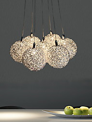 Max 20W Pendant Light ,  Modern/Contemporary Electroplated Feature for Mini Style Metal Living Room / Bedroom / Dining Room