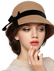 Women Wool Bowler/Cloche Hat,Vintage / Cute / Party / Work / Casual Spring / Fall / Winter