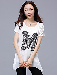 Summer New Women's Letters Printed Short-Sleeved T-Shirt
