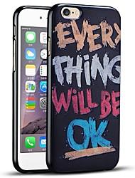 texto en relieve con graffitis caso del iphone suave cubierta trasera protectora para 6s iPhone / iPhone 6