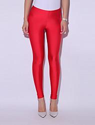 Womens Slim Elastic Bright Color Leggings