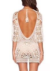 Robes Légères Aux femmes Maille / Crochet Bretelle Double Bandeau Coton / Polyester