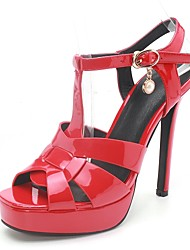 Women's Shoes Stiletto Heel / Peep Toe / Platform Sandals Party & Evening / Dress / Casual Black / Red / White