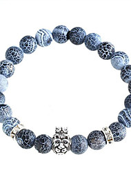 Lion Head Natural Stone Bracelet Charm Bracelets Daily / Casual 1pc
