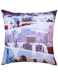 Polyester Pillow With Insert,Cities Casual 18x18 inch