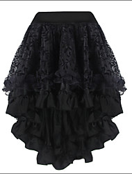 Shaperdiva Women's Black Middle Skirt Satin Corset TUTU Dress