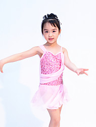 Dancewear Sexy One Shoulder Sequin & Spandex Ballet/Modern  Dance Dress For Kids and Ladies