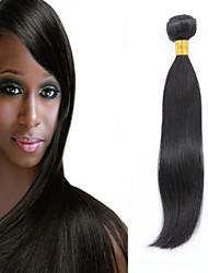 1pcs cabelo humano malaio cabelo liso tece cor natural do cabelo virgem 8-26 polegadas