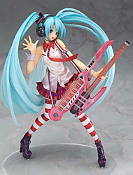 Guitar Hatsune Miku 20CM PVC Anime Action Figures Model Toys Doll Toy