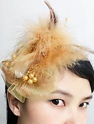 Women's Feather Net Headpiece-Wedding Special Occasion Fascinators 1 Piece