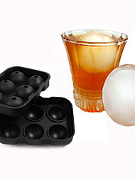 New Design 6 Hole Ice Cube Ball Drinking Wine Tray Brick Round Maker Mold Silicone Ice Hockey Maker
