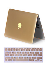 "Case for Macbook Air 11.6"" MacBook Pro 13.3""/15.4"" Solid Color ABS Material 2 in 1 Matte Metal Color Full Body Case Cover with Keyboard Cover"