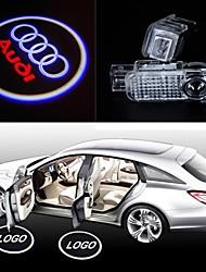 2pcs lâmpadas led logotipo carro porta sombra lâmpada de projeção de luz bem-vinda a laser emblema de Audi A1 a3 a4 a5 a6 r8 tt A6L