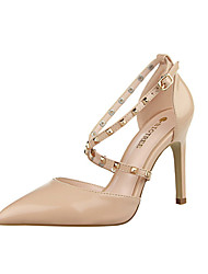 Women's Shoes Leatherette Stiletto Heel Heels Heels Casual Black / Pink / Red / White / Silver / Almond / Burgundy