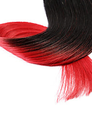 neitsi® 20inch micro anneau boucles extensions de cheveux humains sonne t1-rouge de cheveux humains