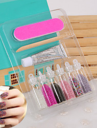1set Caviar Manicure Colored Beads Nail Stick  Nail Decorator