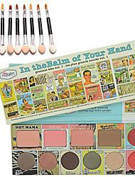 TheBalm de votre visage palette + 10pcs main brosse ombre à paupières