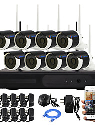 yanse® Stecker und 8-Kanal Wireless-NVR Kit p2p 960p HD IR Nachtsicht Sicherheits-IP-Kamera WIFI CCTV-System spielen