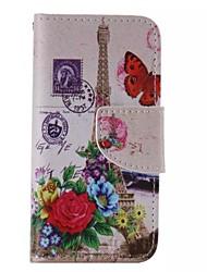 iphone 7 und Blumenturm gemalt PU-Telefonkasten für iphone 6s 6 Plus se 5s 5c 5 4s 4