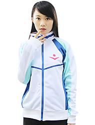 Inspiré par Free! Cosplay Manga Costumes de Cosplay Cosplay à Capuche Imprimé Blanc Manche Longues Manteau Pour Masculin Féminin