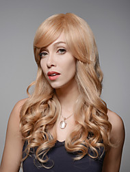 Stylish Beautiful Long Wavy Remy Human Hair Hand Tied -Top Emmor Woman's Wig