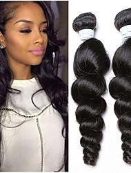 3Bundles cabelo virgem 8-26inch onda solta brasileiro cor natural preto cabelo humano cru tece atacado.